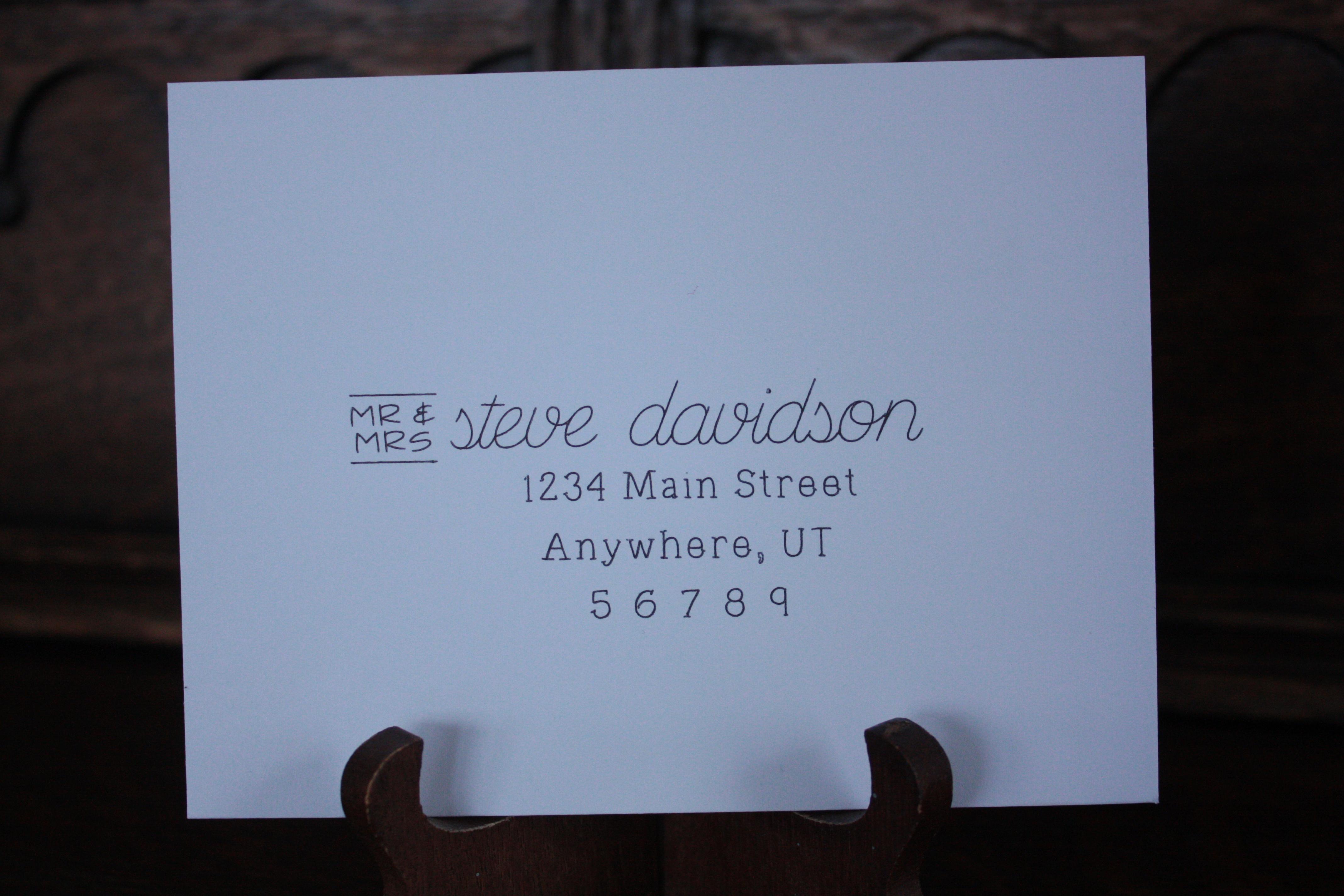 Silhouette sketch font envelope