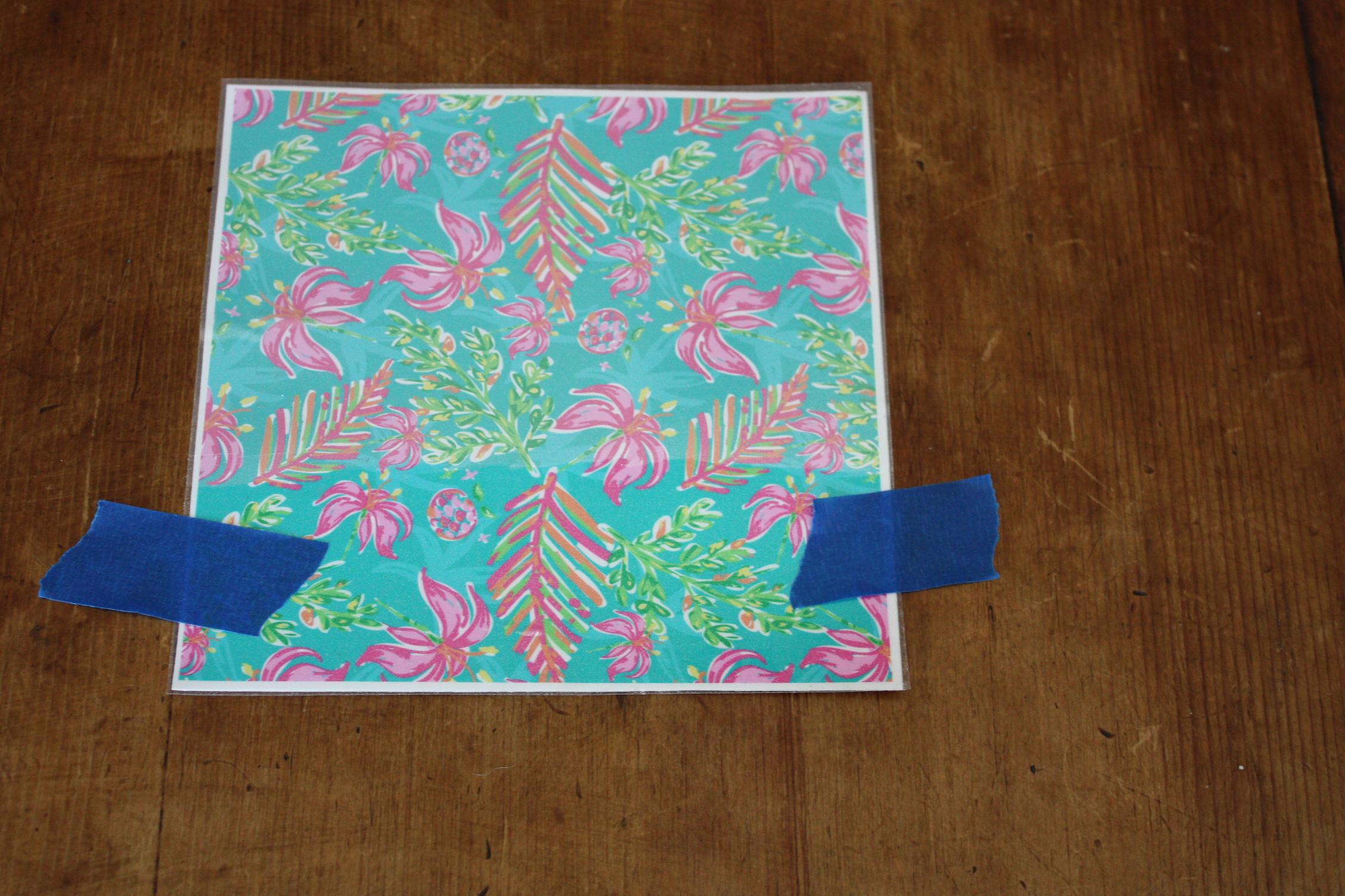 sparkleberry patterned vinyl hinge overlay