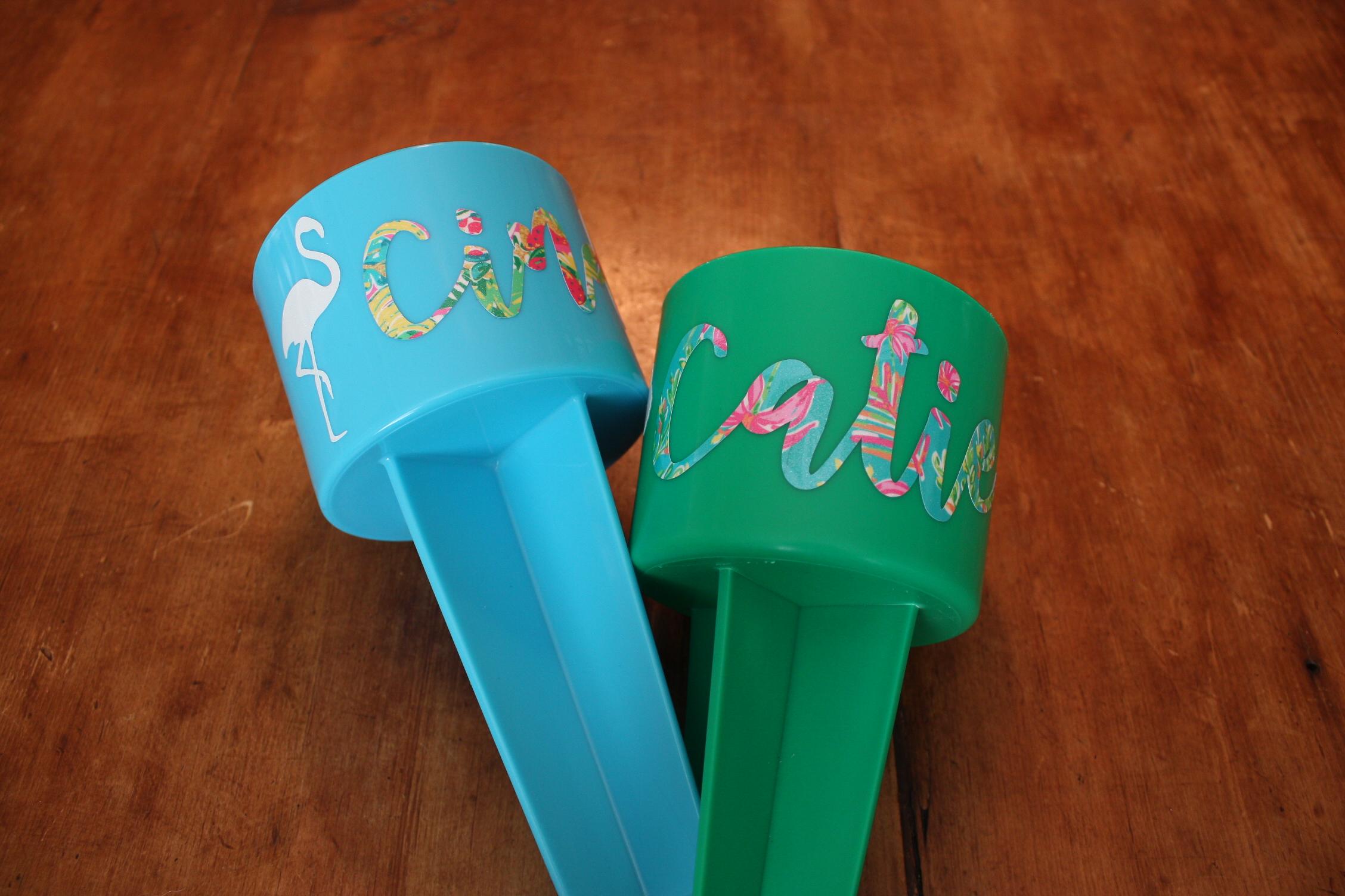 sparkleberry vinyl on beach cups