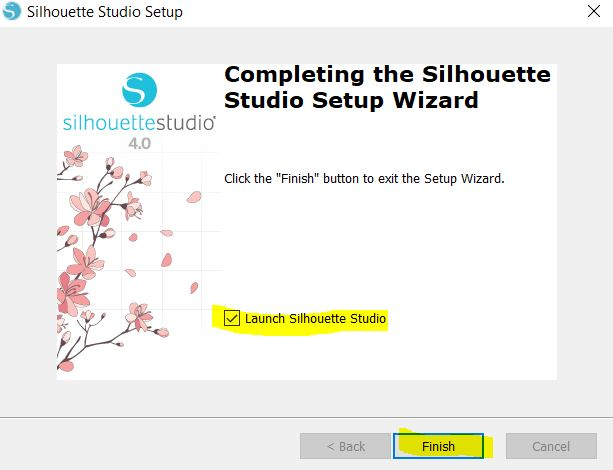 Install the Silhouette Studio software on your computer
