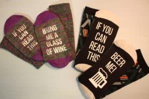 stocking stuffer beer wine socks