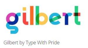 silhouette color font