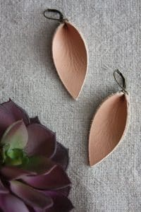 leather earrings tutorial
