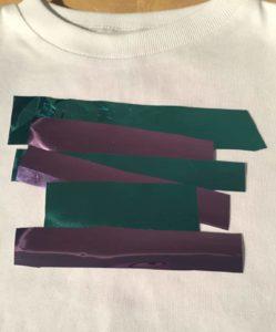 textile foil scraps design