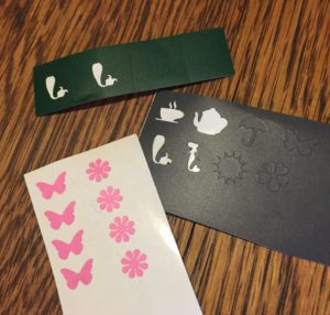 stocking stuffer nail decals with silhouette