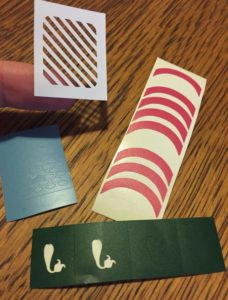stocking stuffer nail stencils with silhouette