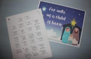 nativity advent calendar silhouette scratch off