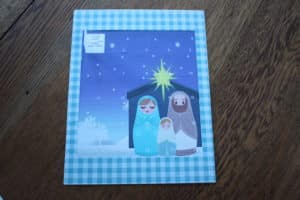 nativity silhouette advent calendar