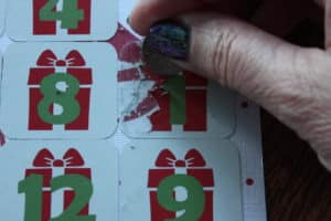 silhouette scratch off advent calendar