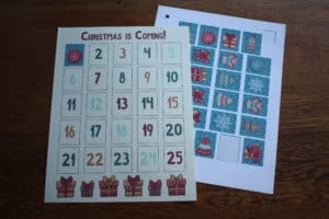 christmas advent calendar stickers