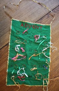 vintage felt advent calendar