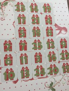 santa scratch off advent calendar