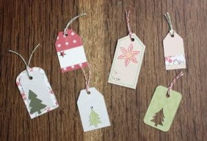 silhouette Christmas tags