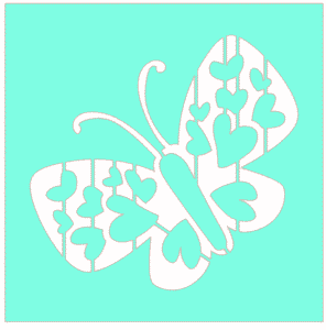 butterfly stencil silhouette cameo