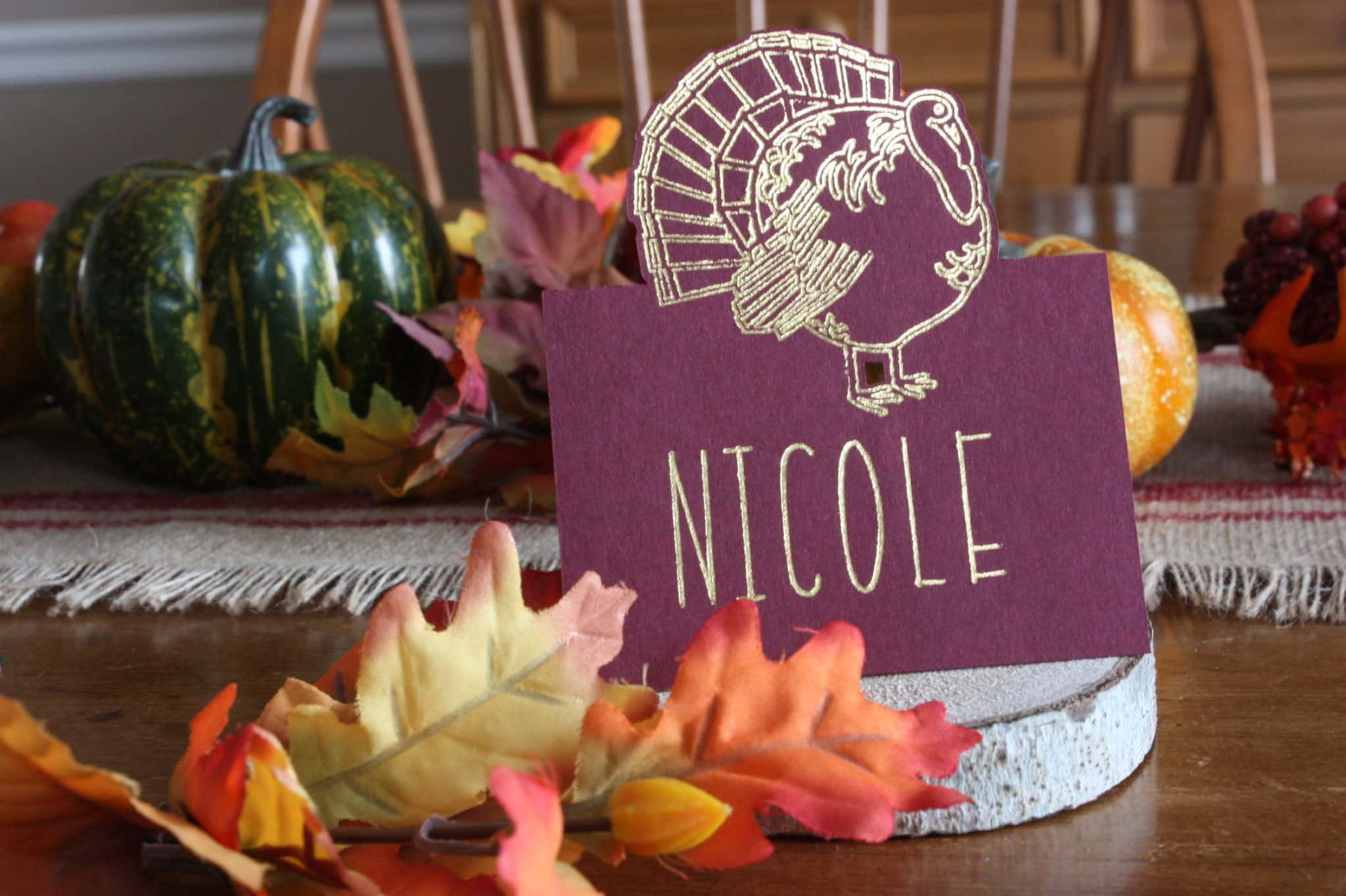 silhouette foil quill place cards