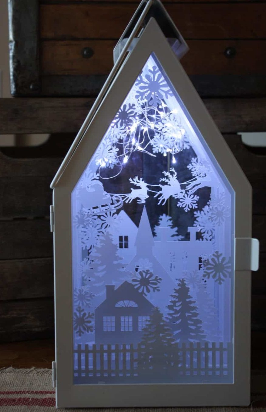 ikea lantern shadow box