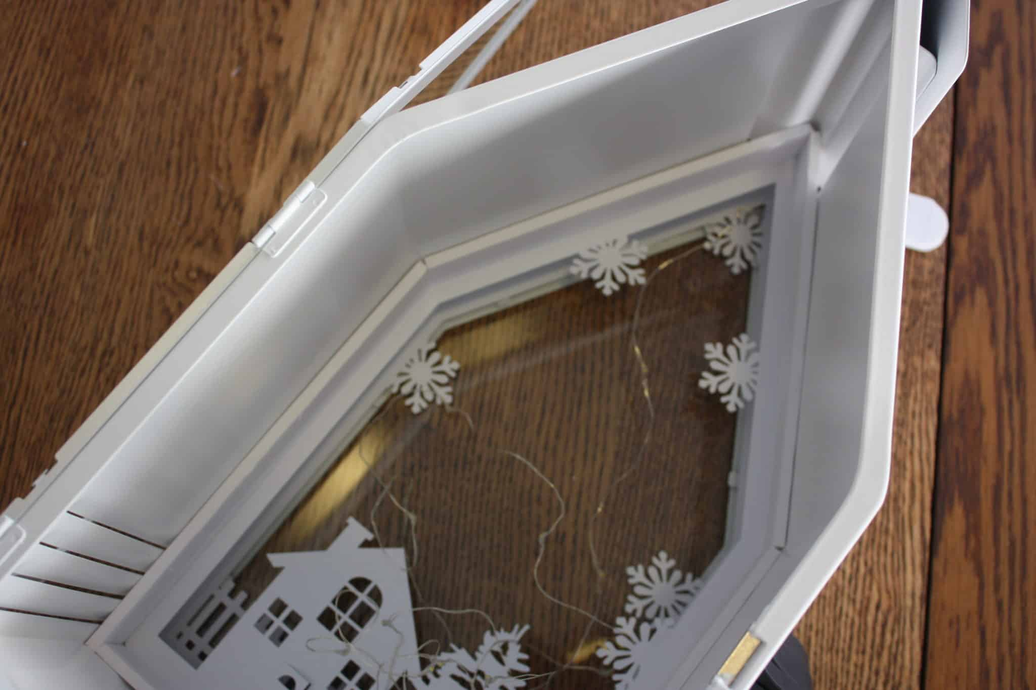 ikea sommar lantern shadow box silhouette cameo cardstock