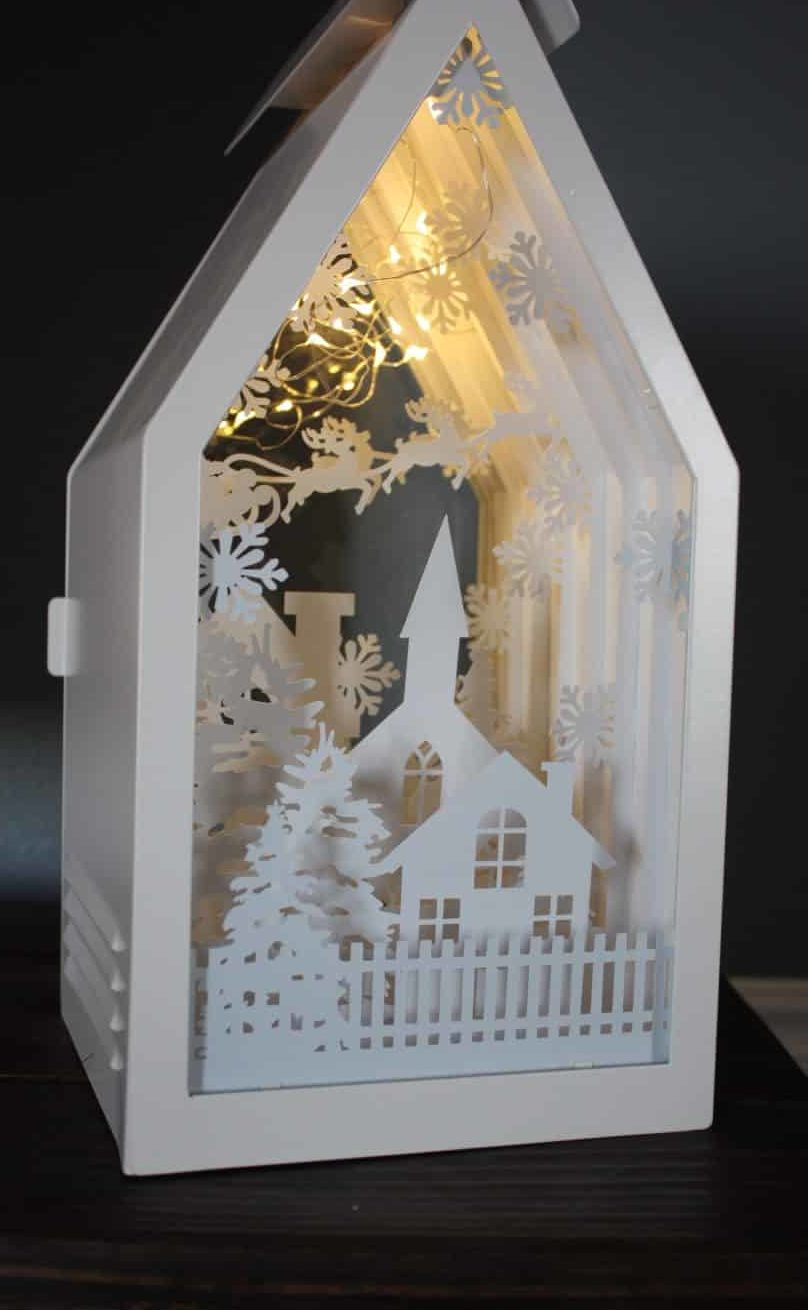 ikea sommar lighted lantern shadow box silhouette cameo