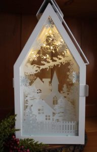 ikea lantern shadow box