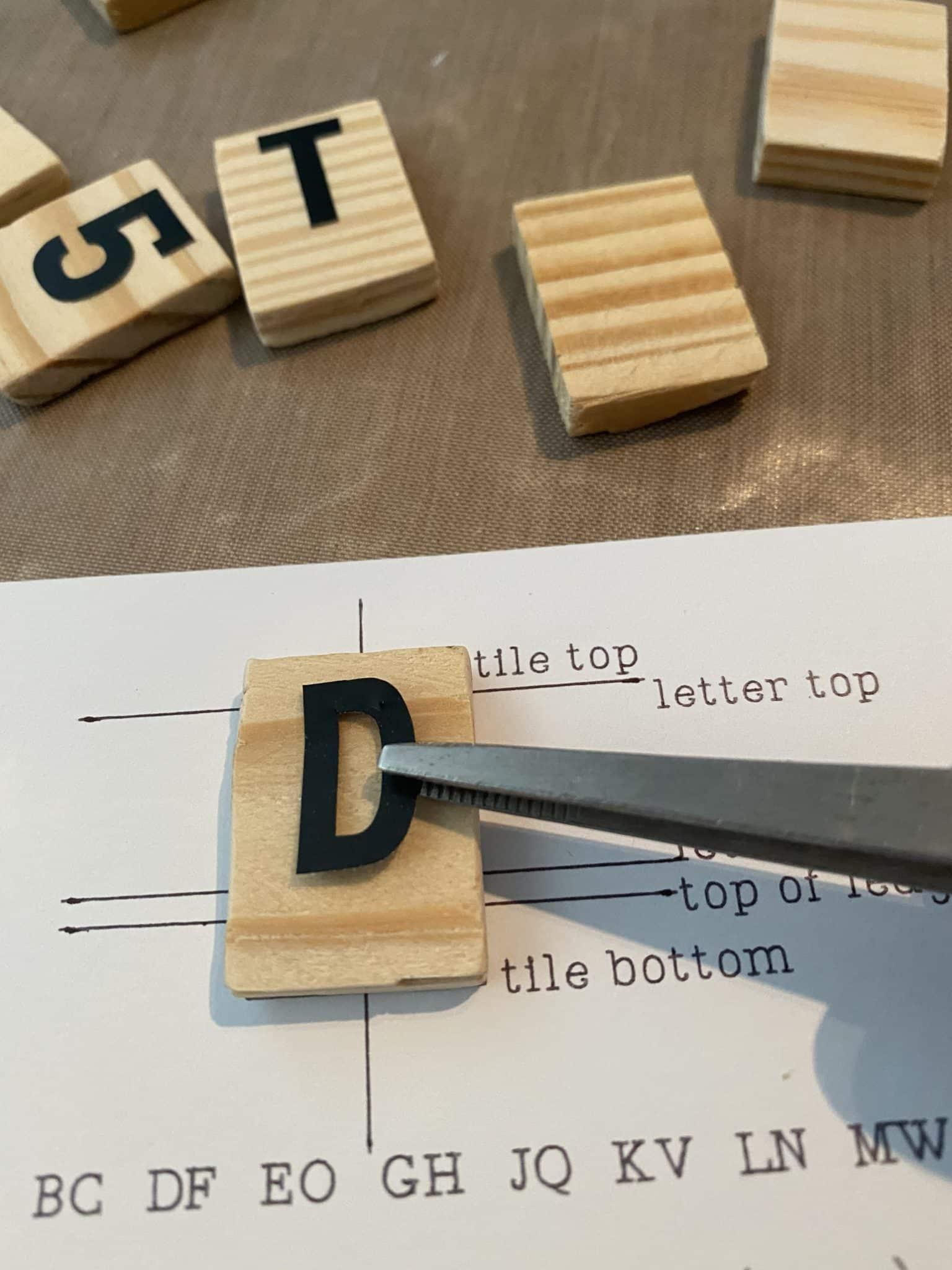 diy letterboard tiles