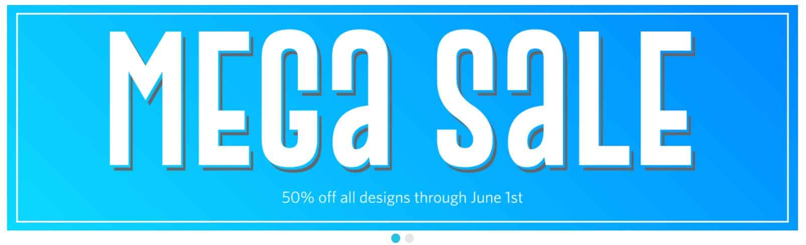 mega sale in silhouette design store