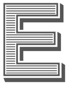 layered letter font
