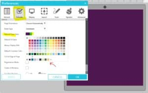 silhouette default page color options