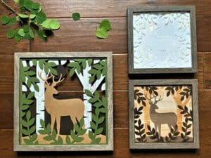 shadowboxes with silhouette